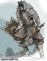 Orsimer Shield Maiden Commission by Demorta