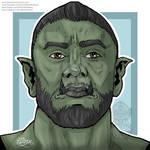 Pathfinder Orc Portrait