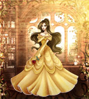 Birthday present for my love, her OC as Belle by Brillantezza