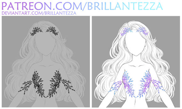 Crystal leaves drawing tutorial preview