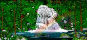 Waterfall Scene by peterosmenda