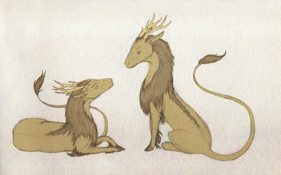 Lion Deer - WIP? by Imbecamiel