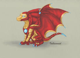 Baby Iron Man Dragon by Imbecamiel