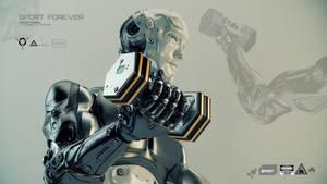 Cool robot lift dumbbells