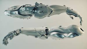 Silver brawny cyber arms by Ociacia