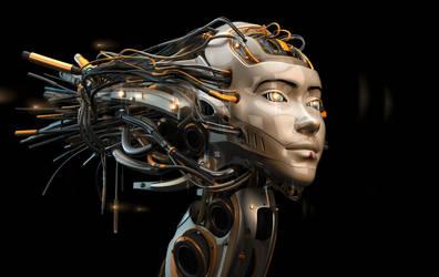 Asian robotic girl by Ociacia
