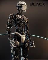 Robotic man in profile by Ociacia