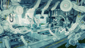 Futuristic room in hospital for diagnostic purpose