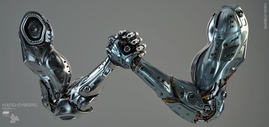 Robotic hands Arm wrestling by Ociacia on DeviantArt