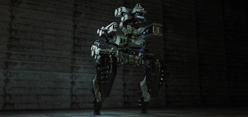 Futuristic military unit by Ociacia