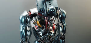 Futuristic surveillance dron with human organs