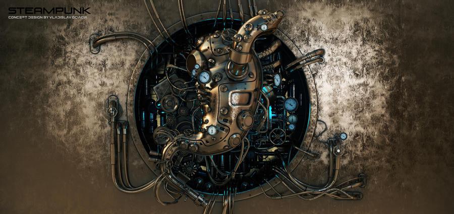 Steam punk stomach module by Ociacia