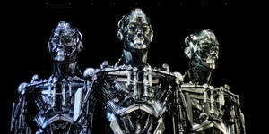 Steel mecha robots trio
