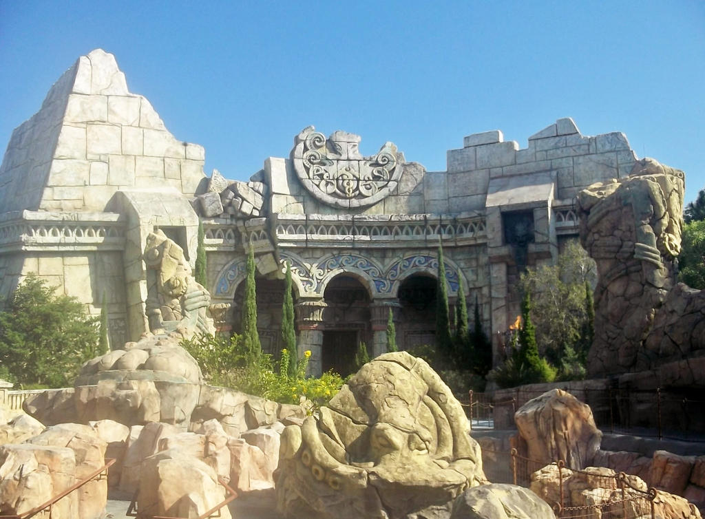 Poseidon's Fury at Islands of Adventure by TheWizardofOzzy