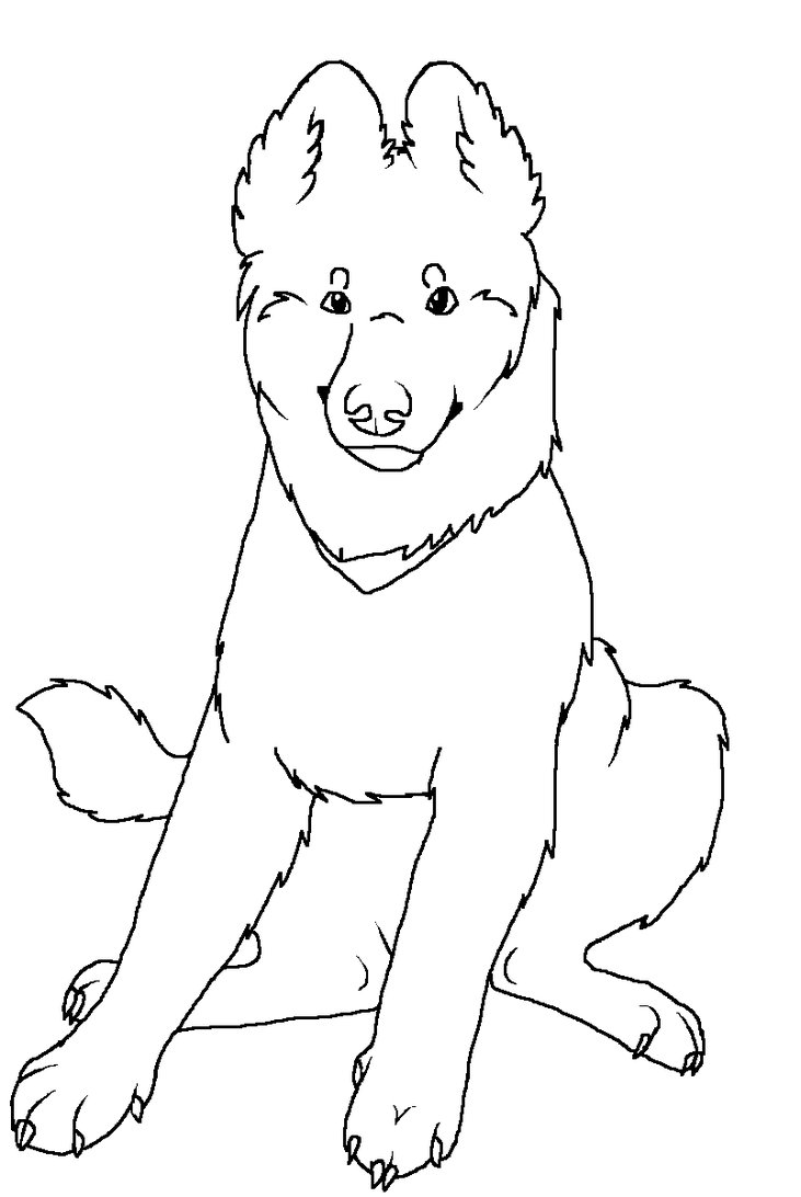 Coloring Pages German Shepherd Dog Breeds Picture German Shepherd Coloring Pages