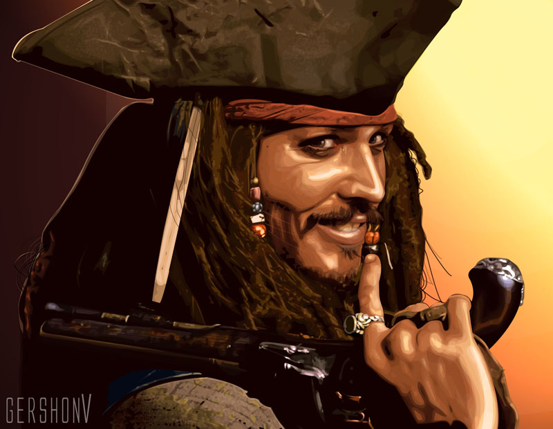Captain Jack Sparrow by gershonv
