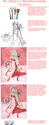 Watercolour tutorial by MistressLegato