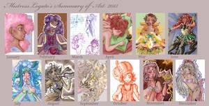 Year In Art 2013 by MistressLegato