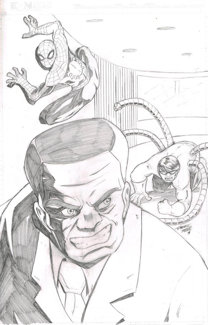 Spider-Man #159 Cover Commission One Minute Later by DRMoore