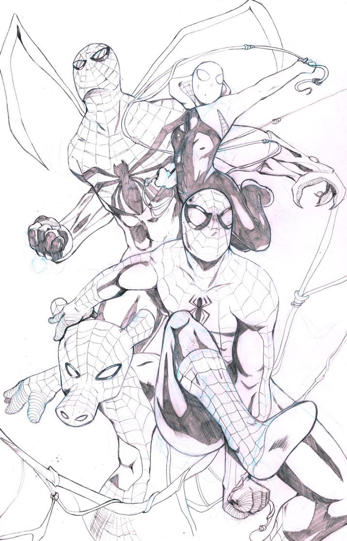 Spider Verse Pencils by DRMoore