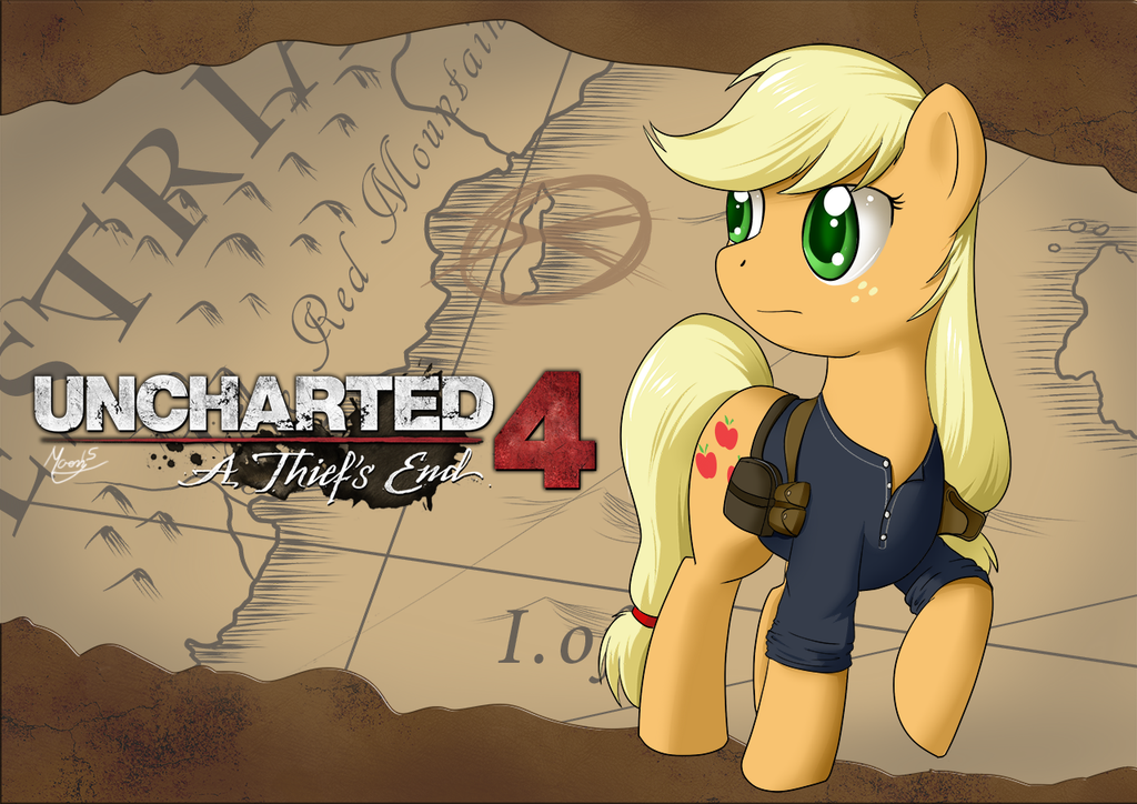Uncharted Applejack by MoonSango