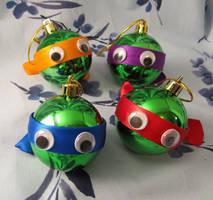 TMNT inspired Christmas Ornament Set