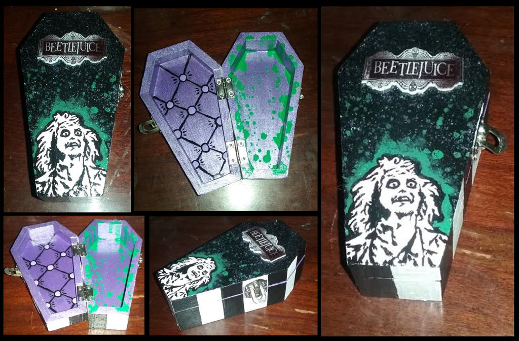 Beetlejuice Themed Coffin Trinket Jewelry Box by emmadreamstar on