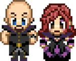 Retro 8-Bit Style Pixel Sprite Couple by emmadreamstar