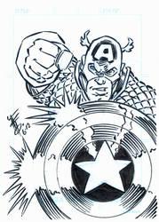 Captain American Sketch card 001