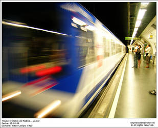 El metro de Madrid... vuela by Uchiland