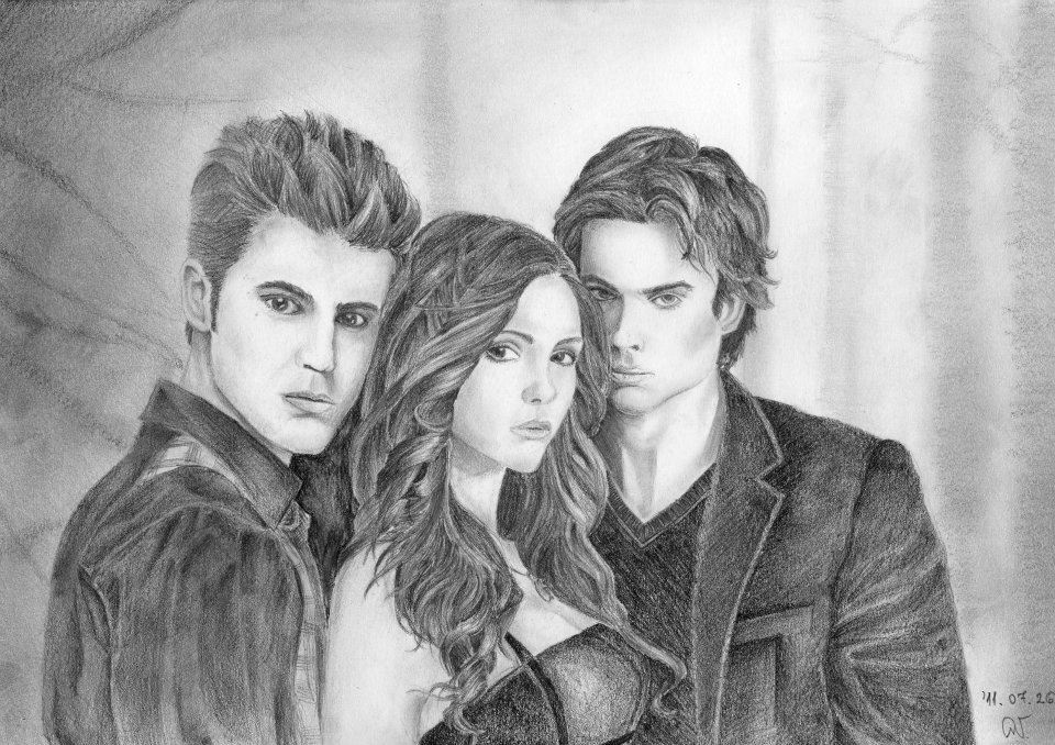 Vampire Diaries My Very First Drawing Of Them By