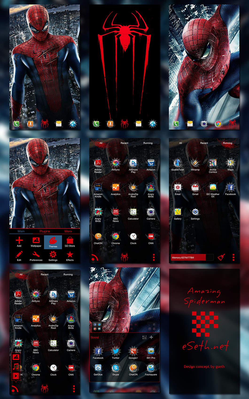 The Amazing Spider Man Go Launcher EX Theme by gseth on
