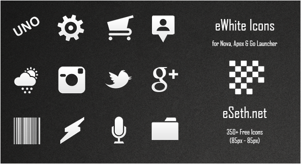 eWhite Icon Pack