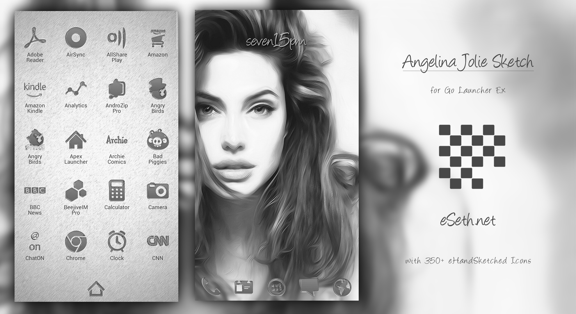 Angelina Jolie Sketch Theme by gseth