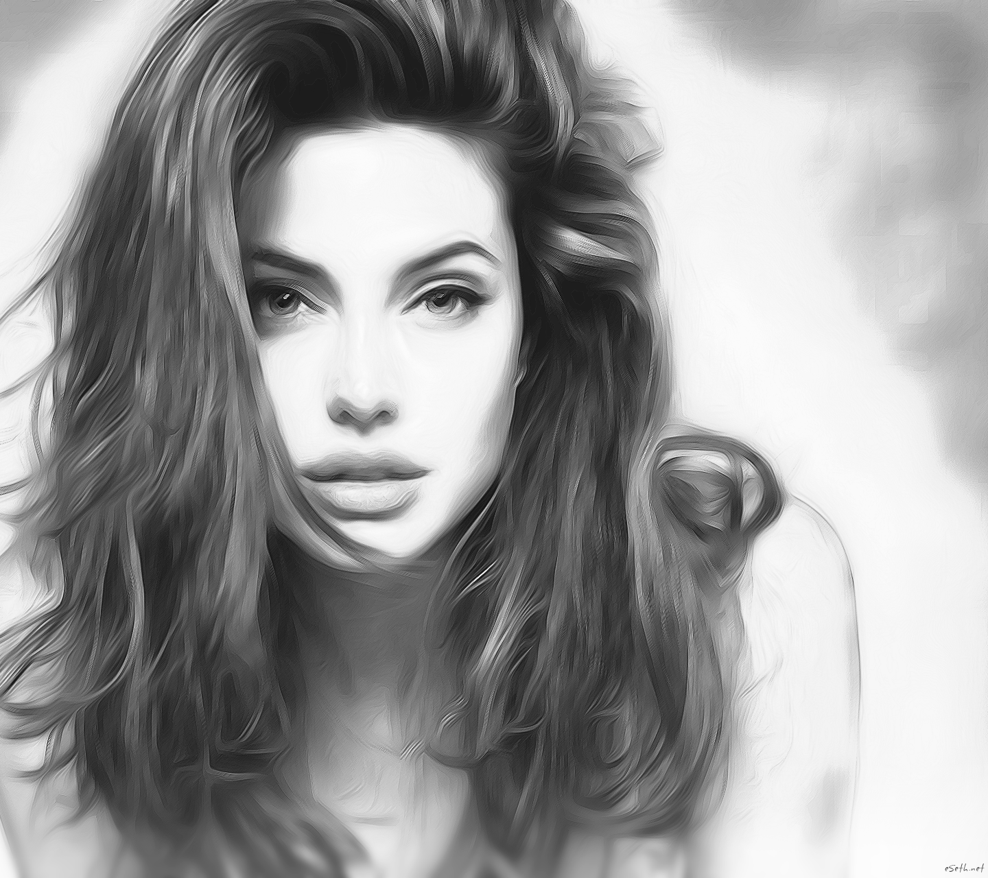 Angelina Jolie Sketch By Gseth On Deviantart