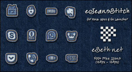 Jeans Stitch Icon Pack Android