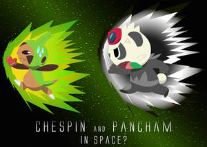 Pokemon XY Chespin and Pancham in Space?