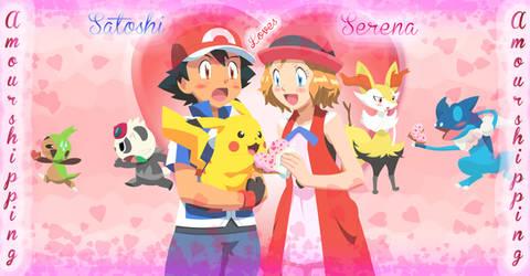 Satoshi and Serena (Amourshipping) #3