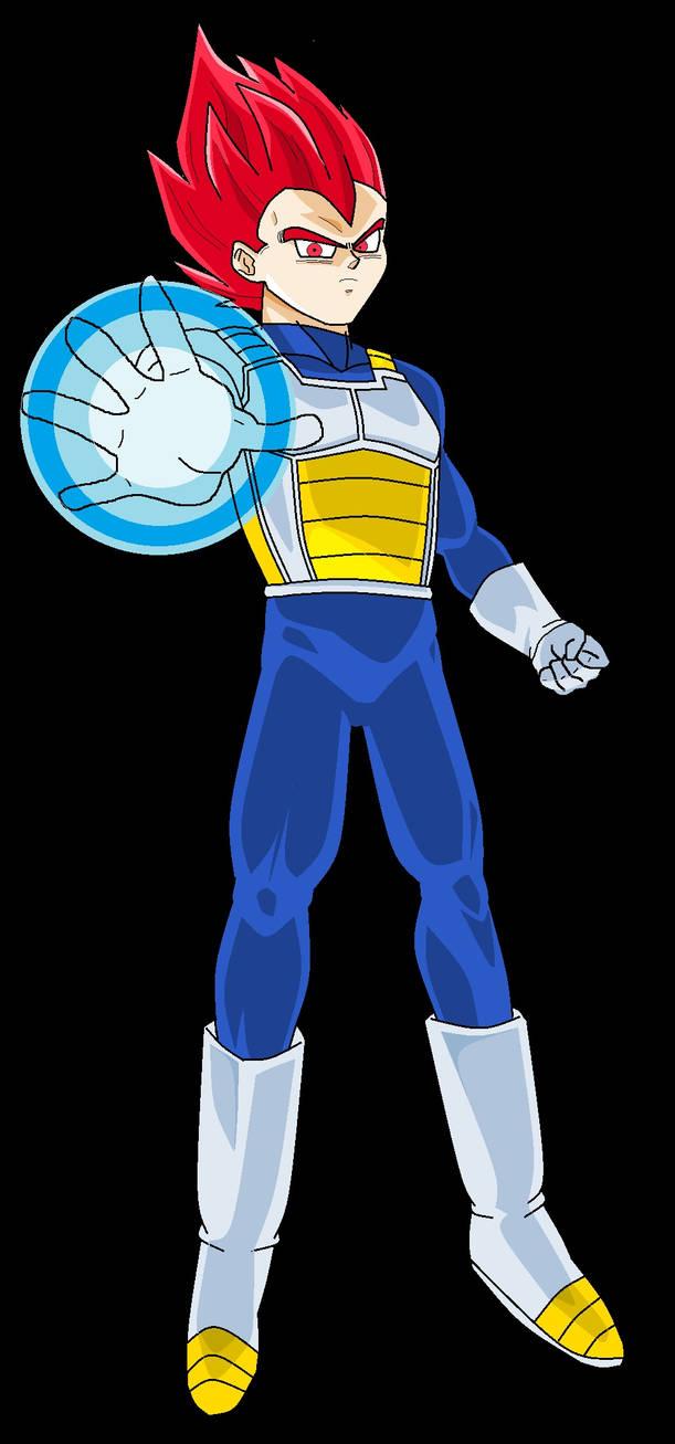 Devastating Power Super Saiyan God Vegeta