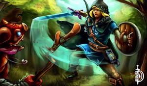 TLOZ Breath of the Wild - Link vs Bokoblin by DawnbreakerDESIGNS