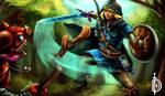 TLOZ Breath of the Wild - Link vs Bokoblin