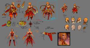 0470: Lina's Burning Lotus Set concept art