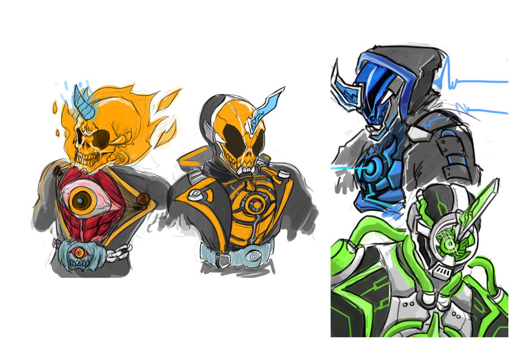 0563: Kamen Rider Ghost, Specter, Necrom by Agito666