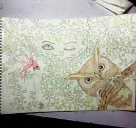 Overgrown (first part watercolour)