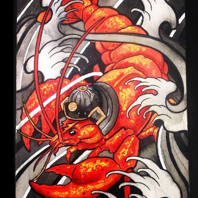 Samurai Lobster by Juliano-Pereira