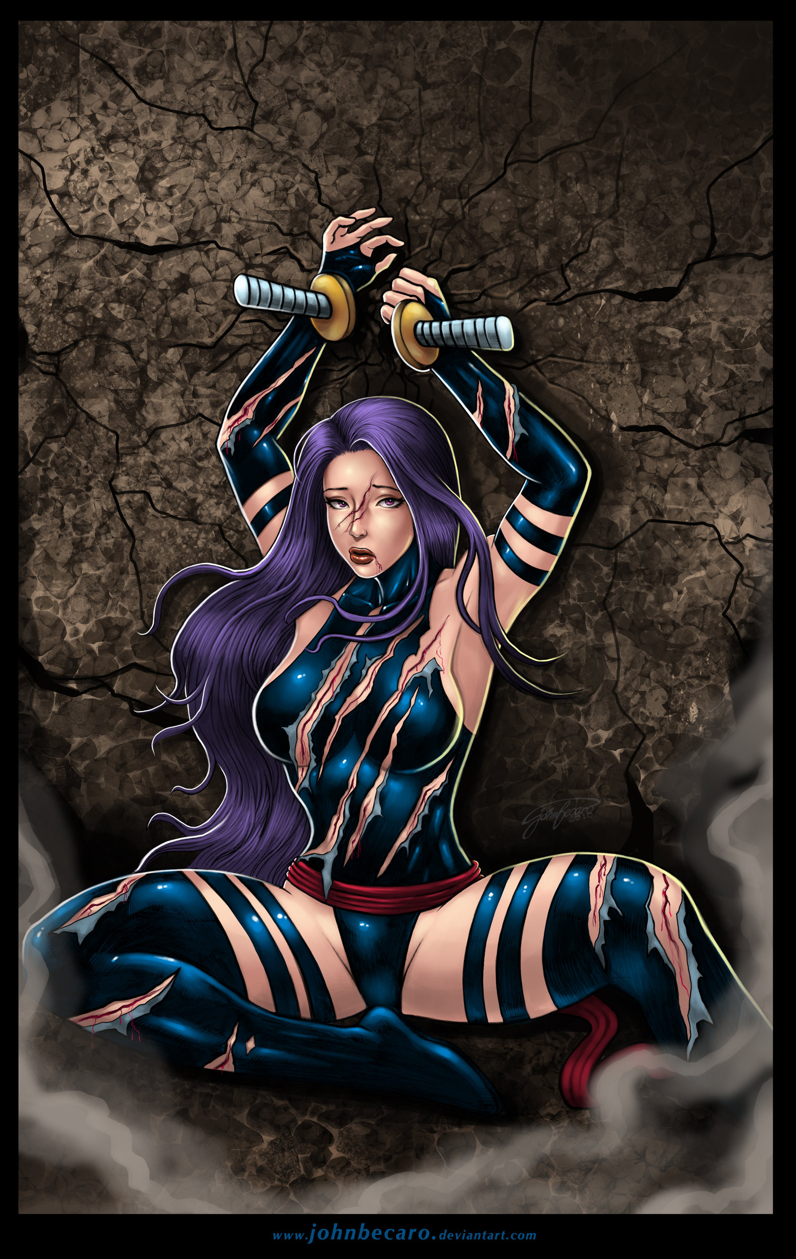 Beat And Bound 8: Psylocke by andrewr255