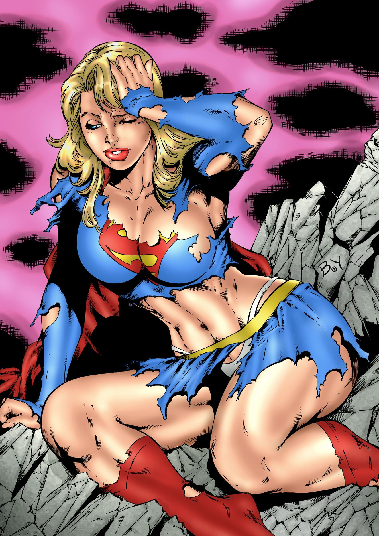 cartoon hentai supergirl