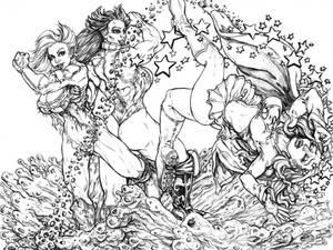 Powergirl vs She Hulk 17