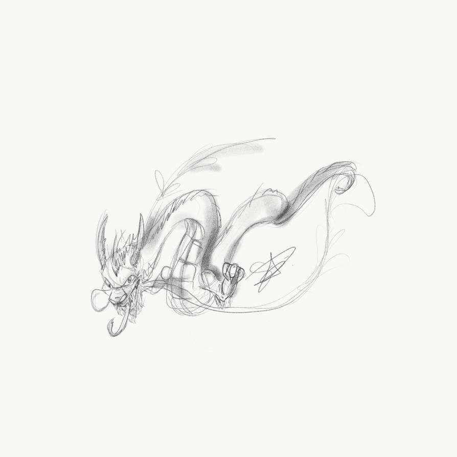 Sketchy Dragon by QwertyNerd