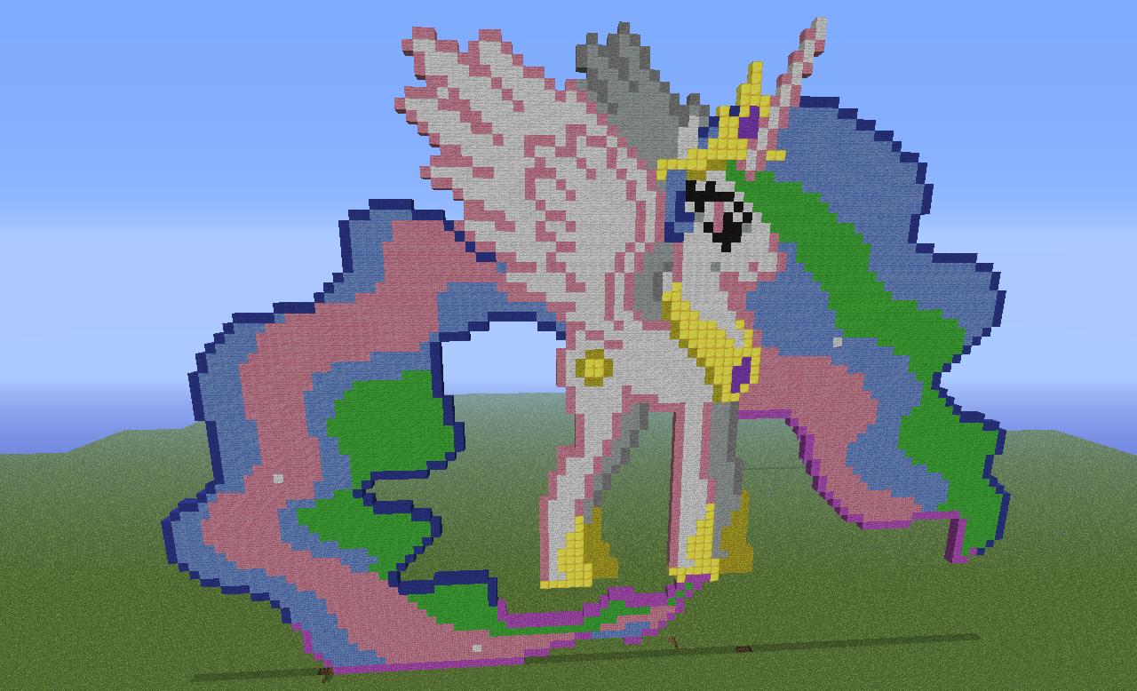 my little pony princess celestia minecraft by